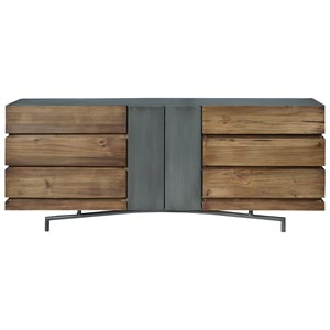 Console Table with Metal/Wood Combo Construction