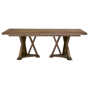 Transitional Double Pedestal Dining Table