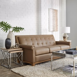 Stationary Sofawith Tufted Back
