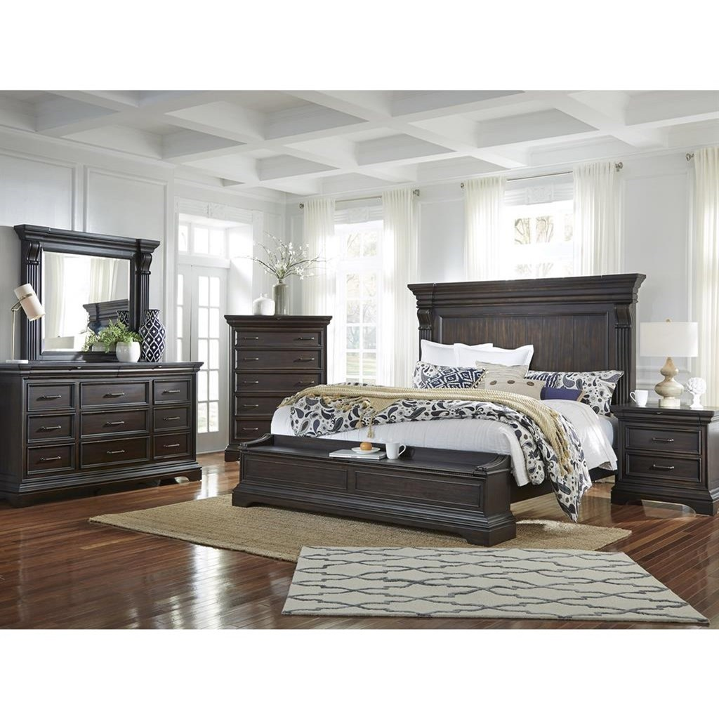 Caldwell Queen Bedroom Group by Pulaski Furniture at A1 Furniture & Mattress