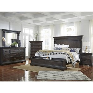 Pulaski Furniture Caldwell California King Bedroom Group