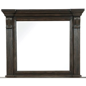 Beveled Mirror with Crown Molded Frame