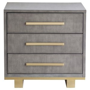 Contemporary Nightstand with Metal Accents