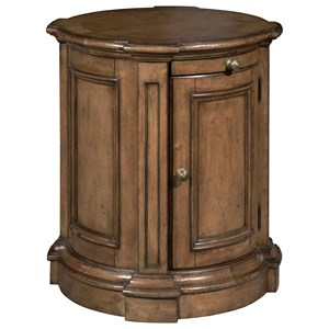 Traditional 1 Door Nightstand with Pull-Out Tray