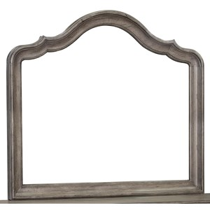 Beveled Dresser Mirror with Scalloped Frame