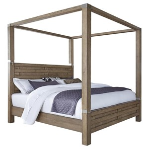 Contemporary Queen Canopy Bed