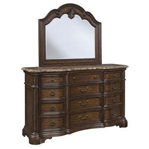 Pulaski Furniture Courtland  Dresser & Mirror