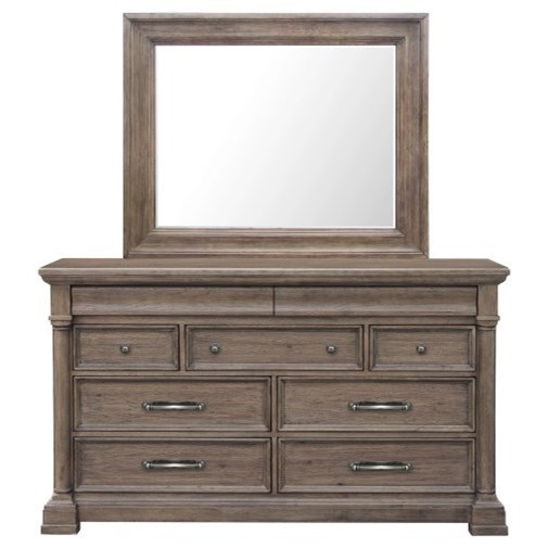 Crestmont Dresser and Mirror Set by Pulaski Furniture at Carolina Direct