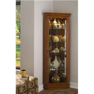 Golden Oak II Corner Curio