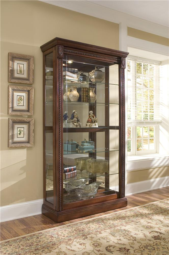 Curios Two Way Sliding Door Curio by Pulaski Furniture at Alison Craig Home Furnishings