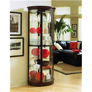 Chocolate Cherry II Half Round Curio