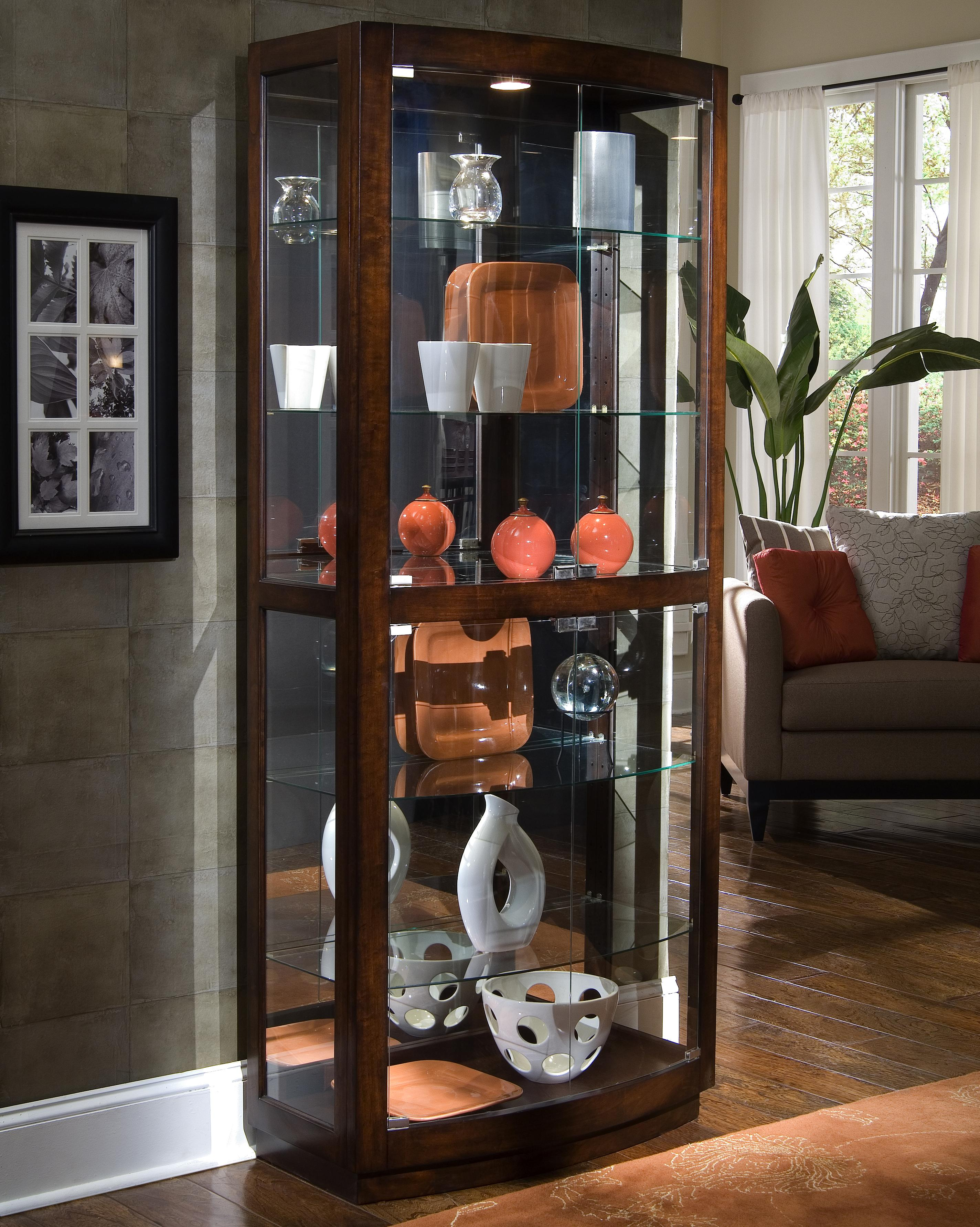 Curios Pacific Heights Curio Cabinet by Pulaski Furniture at Johnny Janosik