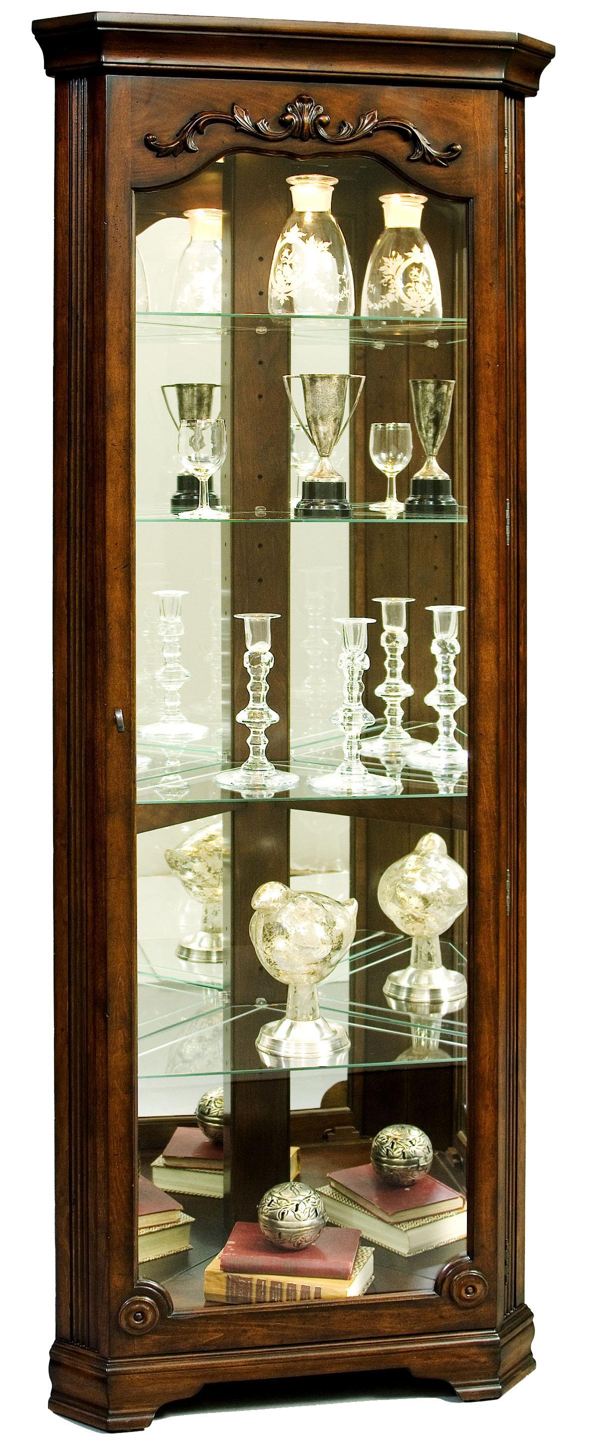 Curios Corner Curio by Pulaski Furniture at Baer's Furniture