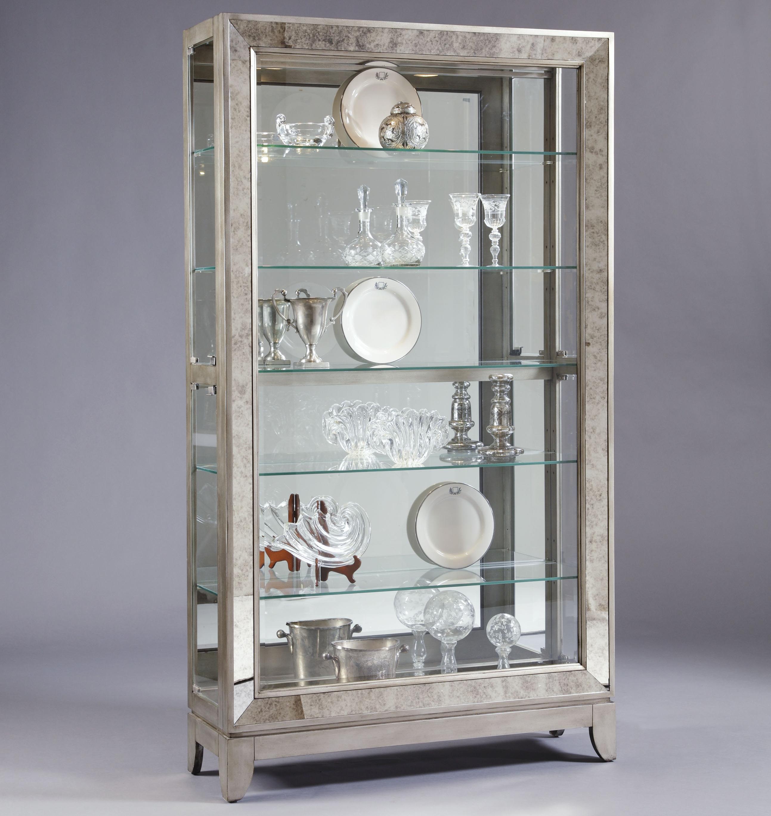 Curios Platinum Side Entry Curio Cabinet by Pulaski Furniture at Baer's Furniture