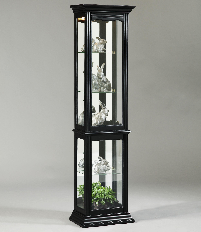 Curios Oxford Black Curio Cabinet by Pulaski Furniture at Baer's Furniture