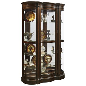 Traditional Curio with Curved Ends