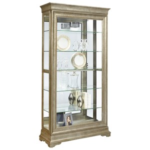 Lyon Curio with Louis Philippe Style Moldings