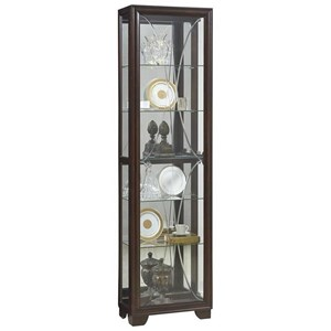Transitional Single Side Entry Curio with Touch Lighting