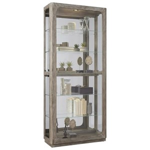 Side Entry Curio in Driftwood Finish