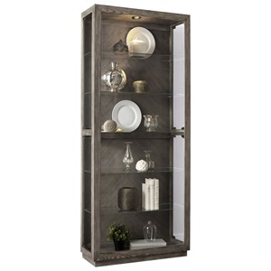 Side Entry Curio with 5 Shelves and Lighting