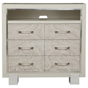 3 Drawer Media Chest with Open Compartment
