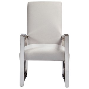 Upholstered Metal Arm Chair
