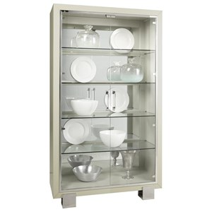 Contemporary Curio with LED Touch Lighting