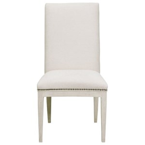 Contemporary Upholstered Side Chair with Nail Head Trim