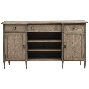 Contemporary 3-Drawer Sideboard with Removable Felt Drawer Bottoms