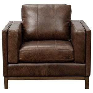 Contemporary Leather Accent Chair