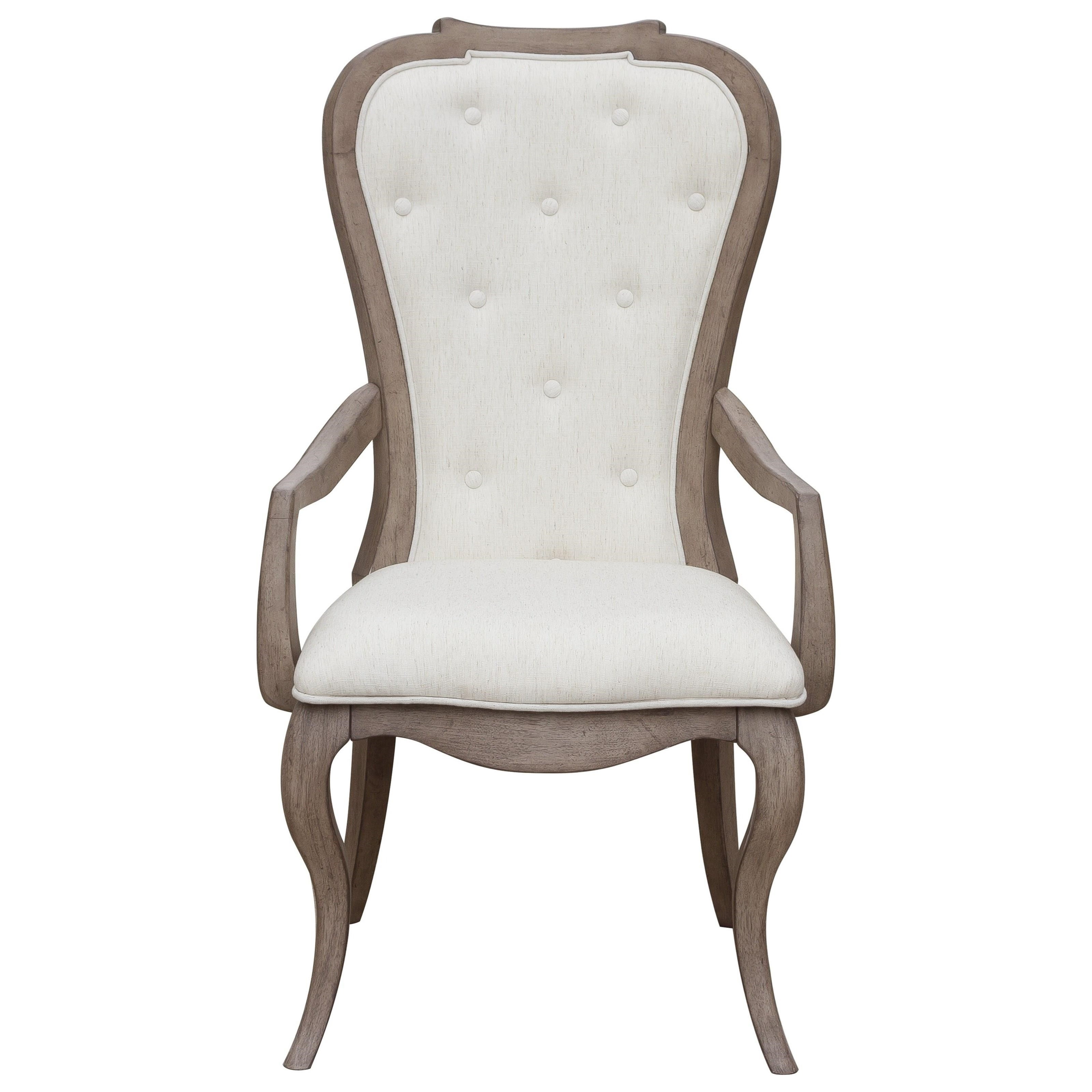 Ella Upholstered Back Arm Chair by Pulaski Furniture at Bullard Furniture