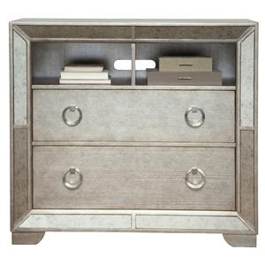 Media Chest w/ Open Shelving & Drawers