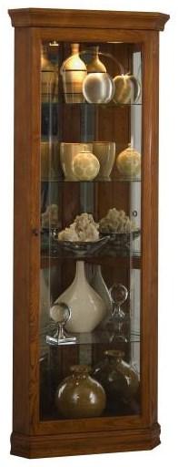 Golden Oak Curio Cabinet at Bennett's Furniture and Mattresses
