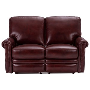 Traditional Power Reclining Loveseat with Built-In USB