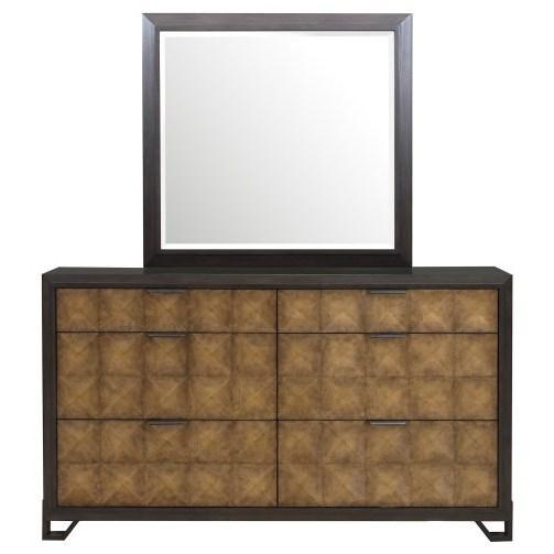 Hudson Dresser and Mirror Set by Pulaski Furniture at Alison Craig Home Furnishings