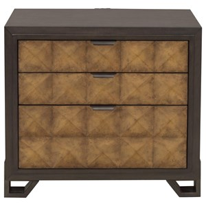 Mid-Century Modern 3-Drawer Nightstand with USB Ports