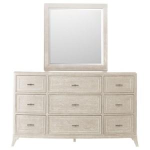 Pulaski Furniture Lex Street 9-Drawer Dresser and Mirror Set