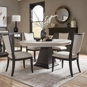 Transitional 5-Piece Dining Set
