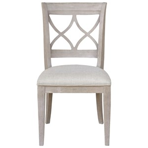 Transitional Wood Back Side Chair
