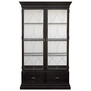 Transitional China Cabinet with Display Lighting