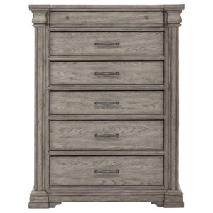 Transitional 6 Drawer Chest