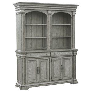 Traditional Server and Hutch with Built-In Lighting
