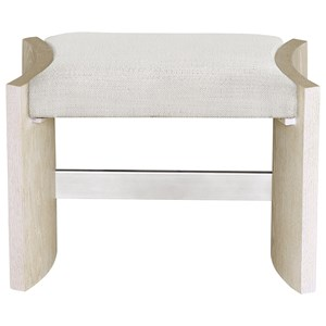 Transitional Upholstered Vanity Stool