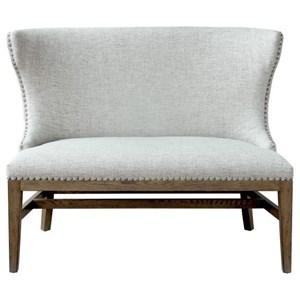 Pulaski Furniture Modern Authentics Shelter Back Nail Trim Settee