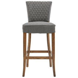 Diamond-Quilted Barstool