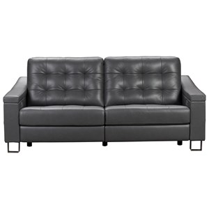 Contemporary Power Reclining Sofa with Built-In USB