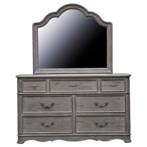 Pulaski Furniture Simply Charming Dresser and Mirror Combination