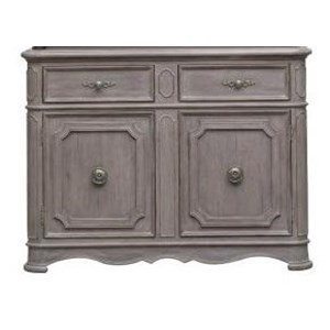 Traditional Sideboard with Interior Adjustable Shelving