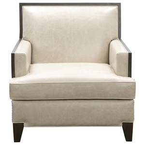 Contemporary Arm Chairwith Nailhead Trim