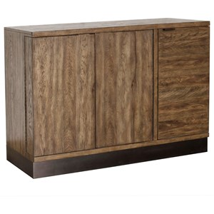 Contemporary Bar Cabinet in Dark Finish